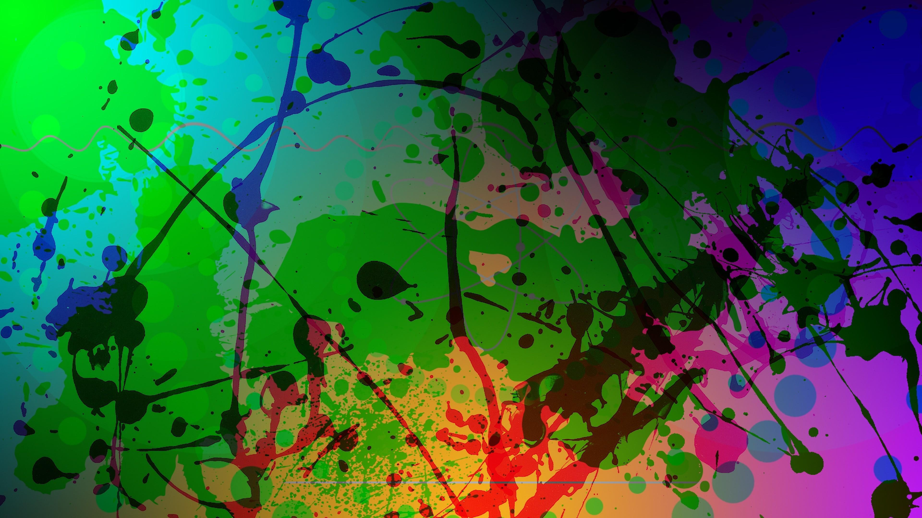 кляксы краски цвета арт онлайн
