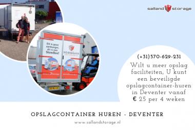 Wilt u meer opslag faciliteiten, U kunt een beveiligde opslagcontainer huren in Deventer vanaf € 25 per 4 weken. Bij Salland Storage weten we heel goed hoe we uw inboedel veilig en droog kunnen stallen. Door onze jarenlange ervaring hebben wij een uitstekend klimaat weten te creëren in onze opslaghal. www.sallandstorage.nl/veilige-inboedelopslag-huren-salland-storage-deventer