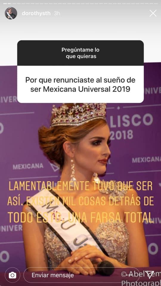 Se reduce a 31 las candidatas a Mexicana Universal 2019, Miss Jalisco - Dorothy Sutherland, fue eliminada de la competencia 1PIqoC
