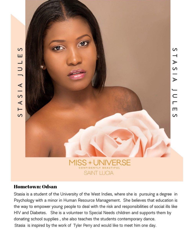 candidatas a miss universe st. lucia 2019. final: 31 de agosto. 1Xefp1