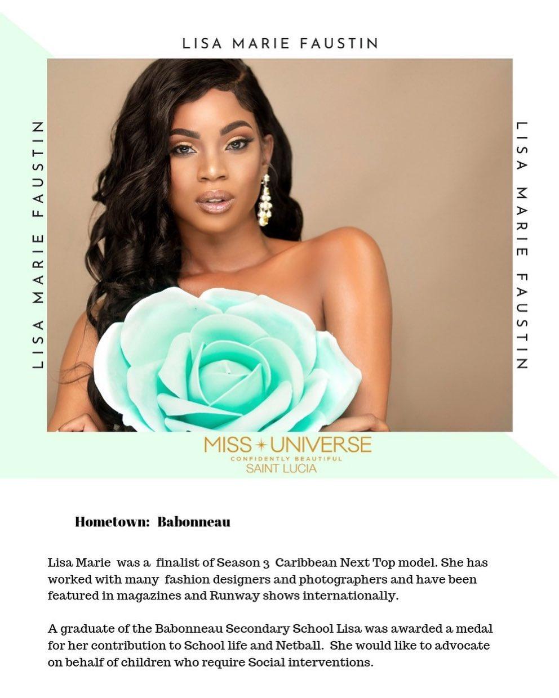 candidatas a miss universe st. lucia 2019. final: 31 de agosto. 1XesDW