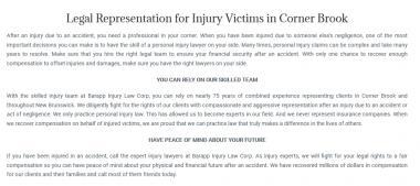 Barapp Injury Law Corp 9 Main St, Suite 403B-3 Corner Brook, NL A2H 1C2 (800) 961-8614  https://barapplawmaritimes.ca/corner-brook/