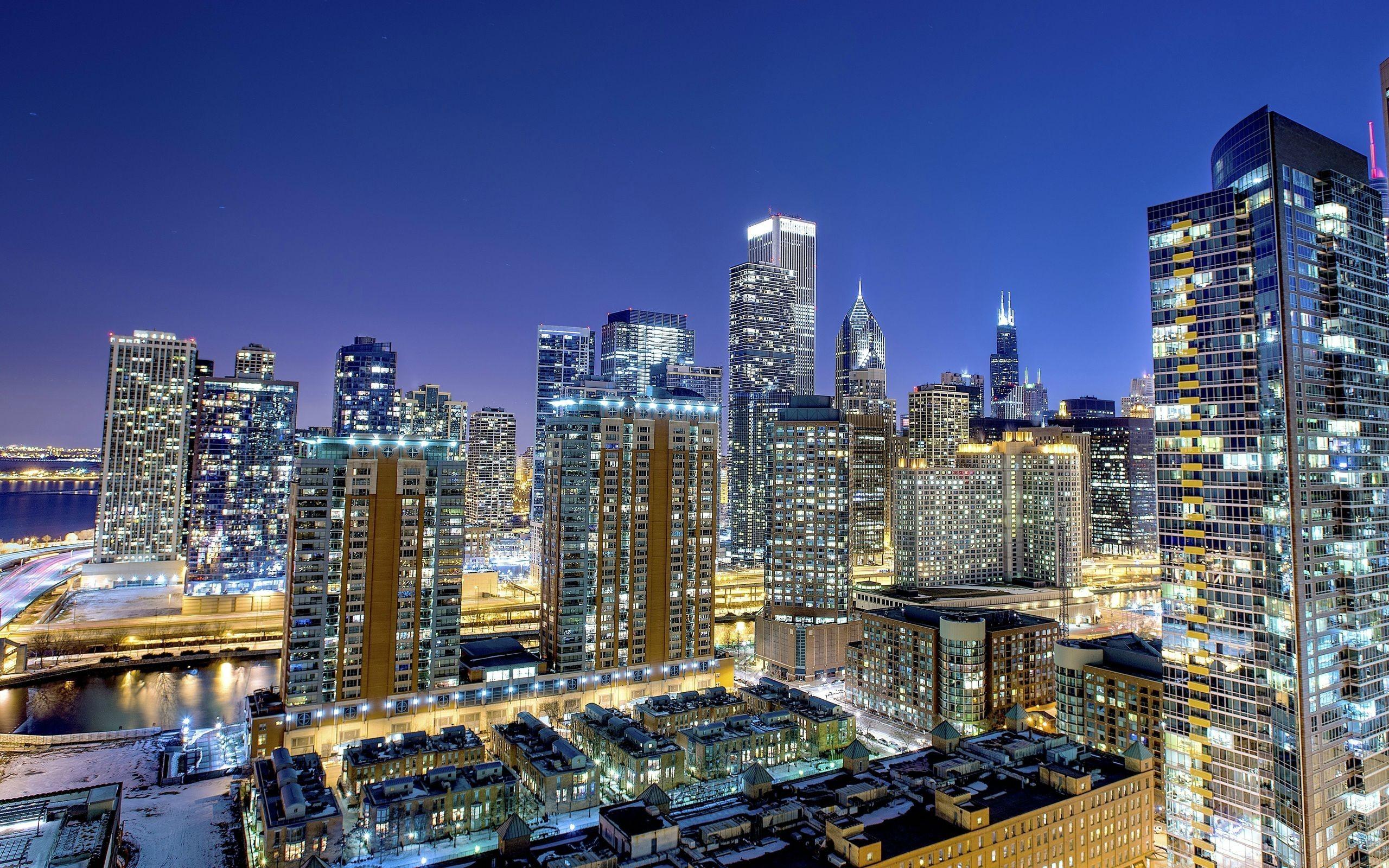 чикаго огни город Chicago lights the city загрузить