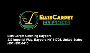 Ellis Carpet Cleaning Bayport is a long standing Carpet Cleaning Service that was formed in 1999. We provide Carpet cleaning, Upholstery Cleaning and Rug Cleaning in Bayport. The Carpet Cleaner machines we use are of the best quality. Plus, our Carpet cleaning technicians are some of the most experienced in the industry. It doesn't matter if you are looking for Stain removal, are dealing with Carpet with bad Odor. Or if you need a general deep steam Carpet cleaning of your entire house. We don't only service Bayport. We also cover Sayville, Oakdale, West Sayville, Blue Point and Patchogue and anywhere in Nassau County and Suffolk County in Long Island. We are the best Carpet Cleaning Service. You want to work with us! Visit:   Ellis Carpet Cleaning Bayport 333 Imperial Way, Bayport, NY 11705, United States (631) 832-4415 Website:  https://www.google.com/maps?cid=13889828009383570992
