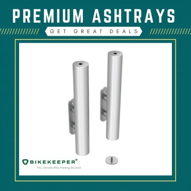 Check out our latest selection of ashtrays for any outdoor design. We have different styles and sizes with perfect high quality to cover your cigarette extinguishing needs. For your queries email us at sales@bikekeeper.com.