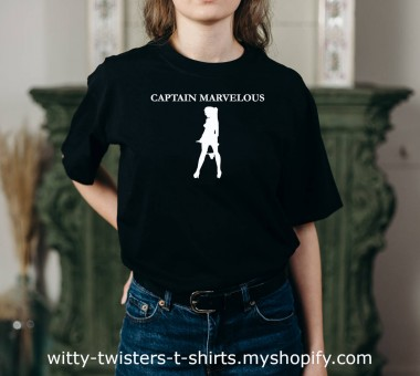 Captain Marvel is one of the sexy superheroes, but if she was even sexier and sleazier, she would be Captain Marvelous. A sleazy superhero would definitely be marvelous and this sexually suggestive t-shirt might just bring super sexual powers to whoever wears it.   Buy this sexy superhero t-shirt here:  https://witty-twisters-t-shirts.myshopify.com/search?q=Captain+Marvelous+%28Sexy+Superhero%29