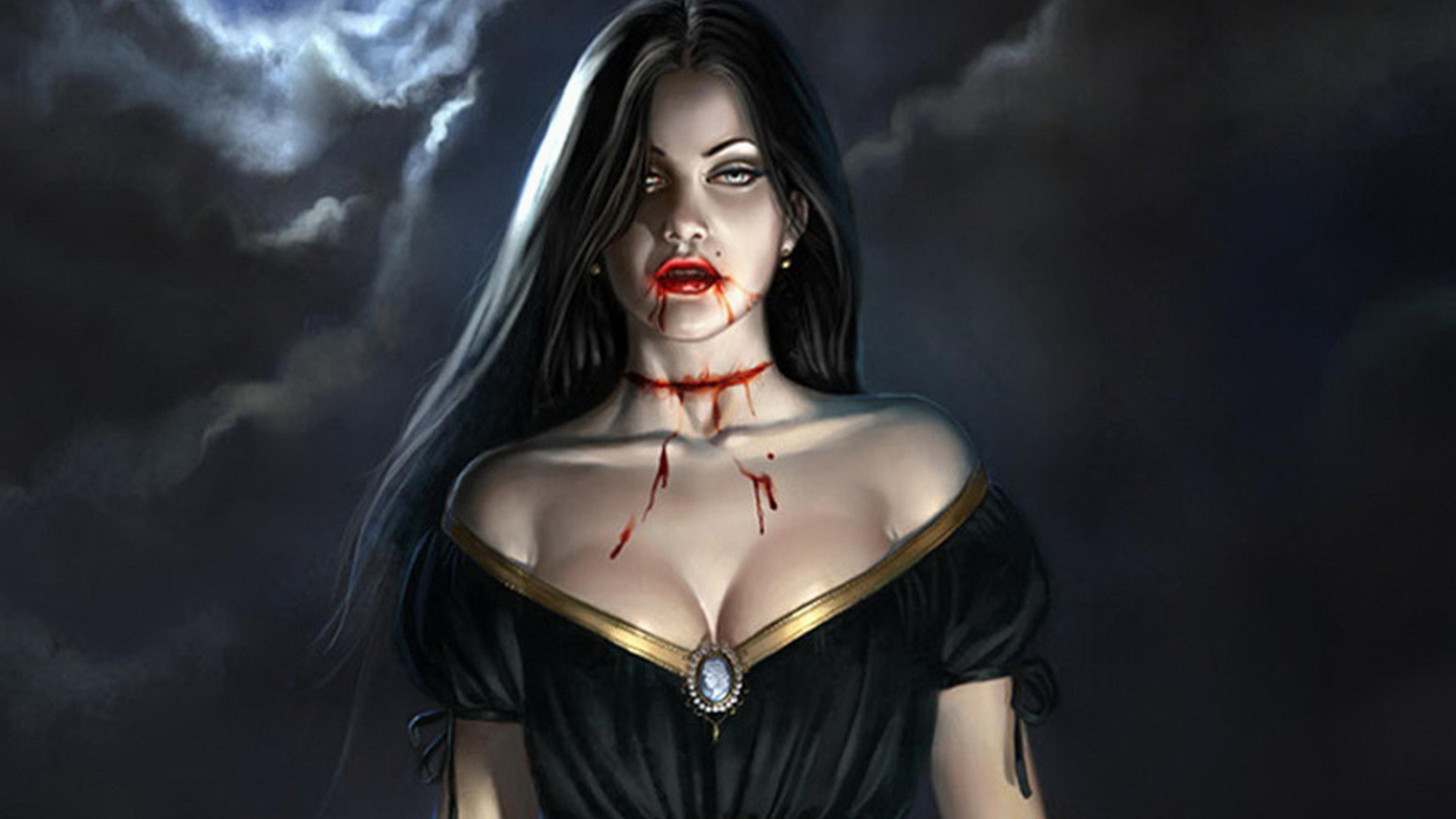 Female vampire art doble sex