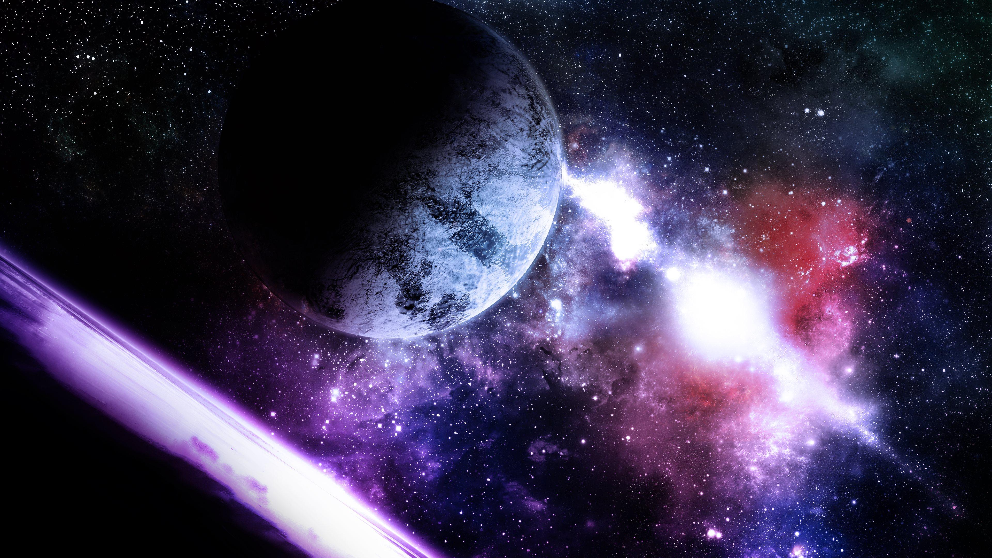Stellar Lighthouse Planets Space 3840x2160 Ultra HD Computer Desktop