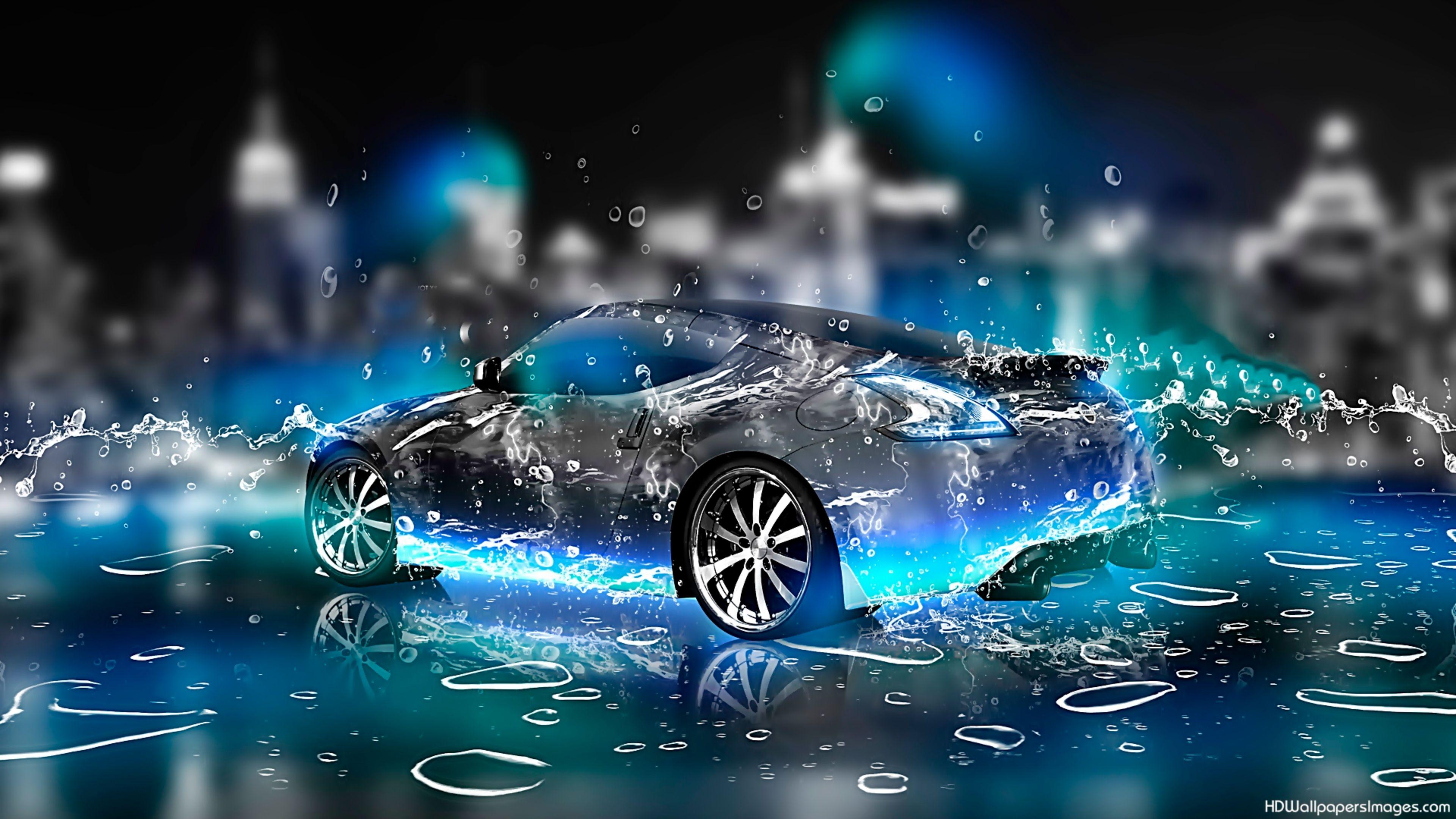 Cool Car 3D 4K Wallpaper