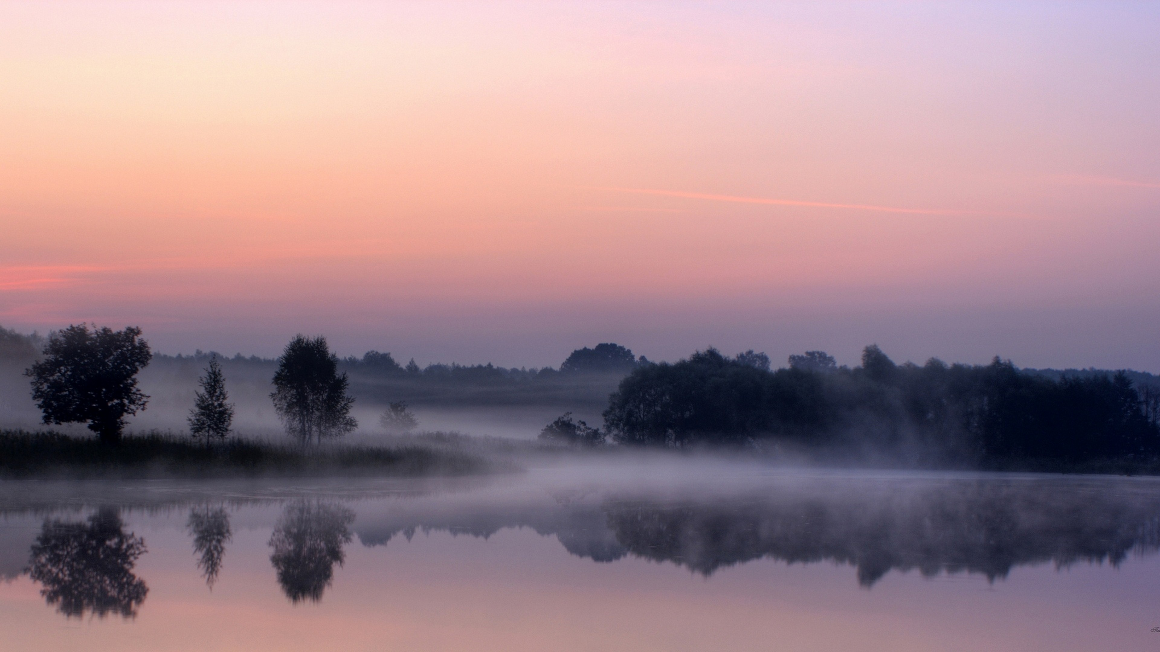 Туман вдоль реки  № 1281327 бесплатно