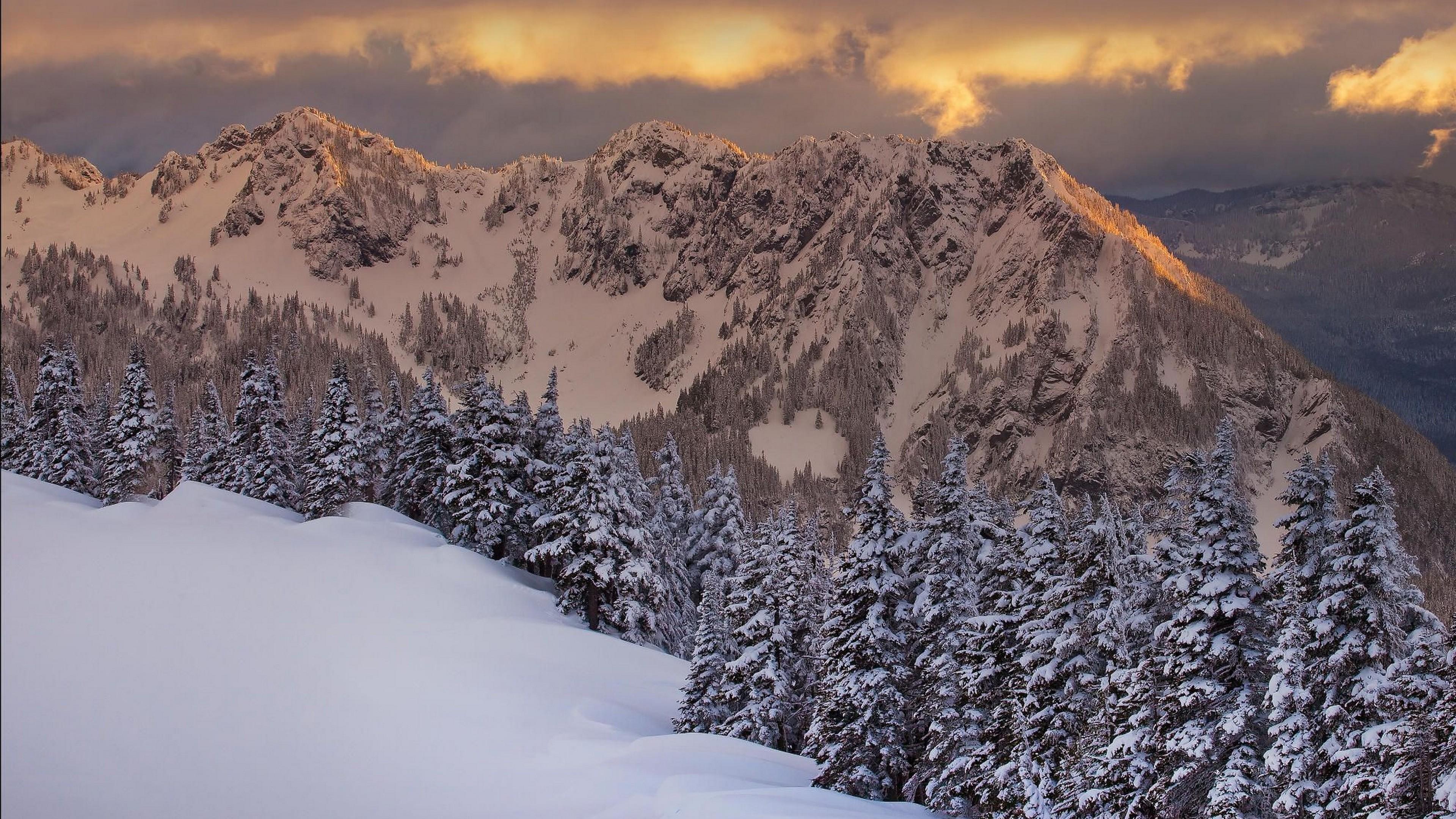 природа зима снег горы скалы деревья  № 2781243 загрузить