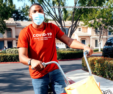 COVID-19 is also called coronavirus because it's a virus of course, and going viral is a video, image, or story that spreads quickly and widely on the Internet through social media and e-mail. On this funny pandemic t-shirt COVID-19 is a virus that has also gone viral. Wear this humorous virus t-shirt and maybe it'll go viral too.  Buy this funny COVID-19 virus pandemic t-shirt here:  https://witty-twisters-t-shirts.myshopify.com/search?q=COVID-19+-+The+one+time+going+viral+is+a+bad+thing
