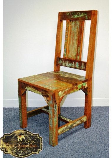The chair has great rustic charm whilst providing and a traditional design that provides a comfortable seat at your dining table. The reclaimed timber finish adds warmth and makes this a unique piece of furniture full of character.