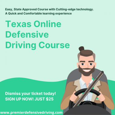 To elevate your driving skills enroll yourself for the best Defensive Driving Online Texas Course. The defensive driving course enhances driving techniques that further prevent accidents on the road.  We are the highest-rated course with thousands of happy graduates. Check out recent reviews now and see for yourself! For more information, Call Us: ☎ +1800-674-8110  Or Visit Us at    https://www.premierdefensivedriving.com24/7 Support.