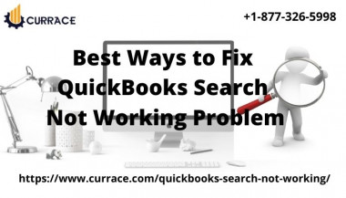 Sometimes QuickBooks search, not working problem comes after updating the QuickBooks Desktop application to its latest version. Don't worry just relax, it is just an issue that can be fixed easily. https://www.currace.com/quickbooks-search-not-working/