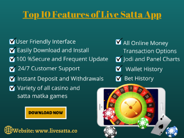 Live Satta is the best Satta Matka live app where you will get matka live updates of all games. Play online matka, casino, poker, andar bahar, teen patti, Starline Games, King Games. Download now and start winning in Lakhs in less time period.