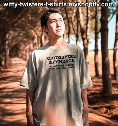 Earth's Cryosphere is the extent of snow and ice cover on Earth's surface and it's shrinking by over 87,000 kilometers per year. It's a critical factor cooling the planet and it's responding to warming global temperatures. Wear this thought provoking environmental t-shirt and be an eco-activist by making people see this ecological disaster in a new light.  Buy this environmental activism t-shirt here:  https://witty-twisters-t-shirts.myshopify.com/search?q=Cryosphere+Shrinkage+-+Is+much+worse+than+what+happens+to+men