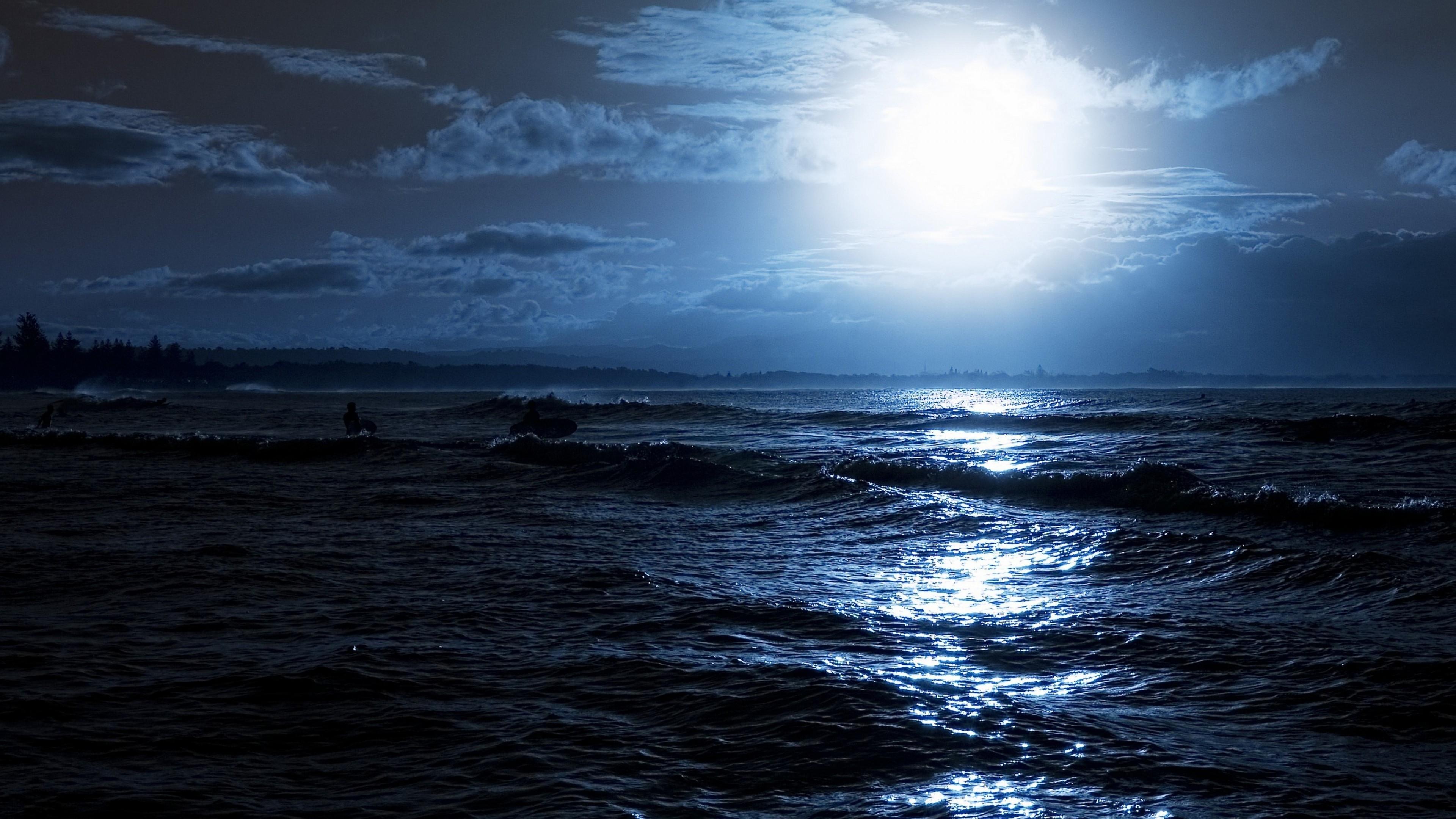 природа море горизонт небо луна без регистрации