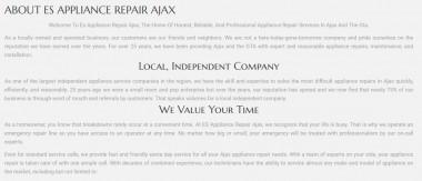 ES Appliance Repair Ajax 742 Pickering Beach Rd Ajax, ON L1S 3K8 (289) 275-0224  https://esappliancerepairajax.ca