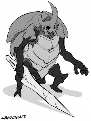 Posted in the channel by: KeinZantezuken#1771 http://zummeng.deviantart.com/art/Watcher-Knight-Hollow-Knight-Fanart-681103834