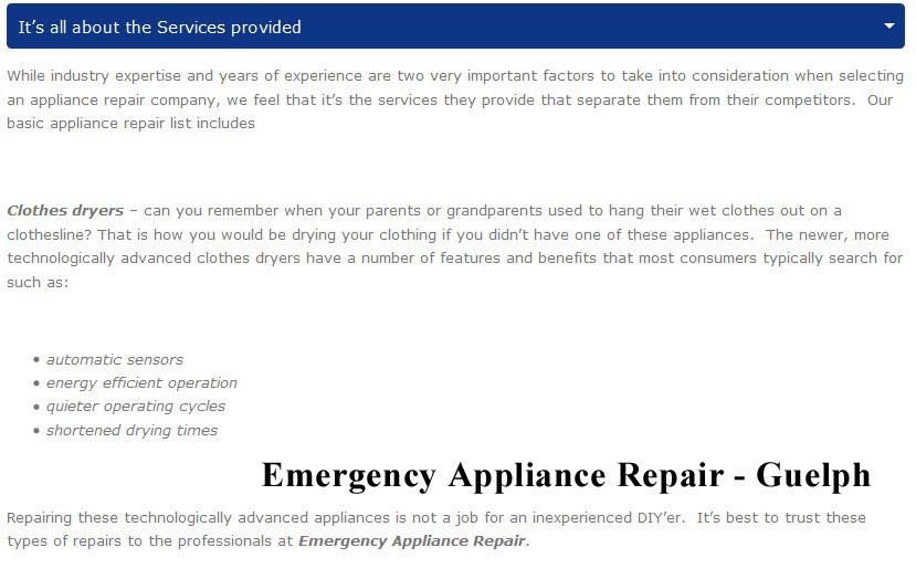 Best Appliance Repair Guelph Emergency Appliance Repair