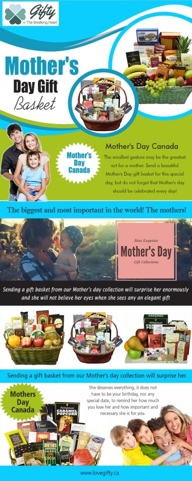 Mothers day Canada with one of carefully planned baskets at https://lovegifty.ca/collections/mothers-day Find Us On : https://goo.gl/maps/MUGifzhNss92 You will get a lot of options for mothers day Canada Gifts Baskets. You should choose the appropriate theme. Some of the themes to choose from are spas and food. Spa themed baskets are more expensive and food themed baskets are preferred for this reason. However, if you are ready to spend more money for your loving mother, spas gift baskets will be the perfect gift for her. My Social : https://followus.com/giftbaskettoronto http://www.facecool.com/profile/giftbaskettoronto https://bakaehyliwo.contently.com/ https://mastodon.social/@giftbaskettoronto  Gifty by The Breaking Heart  112 Elizabeth St, Toronto, ON M5G 1P5, Canada Phone : +1 800 516 8550 E-mail: hola@lovegifty.ca Open 24 Hours  Deals in ... Mother's Day Canada Mothers Day Flowers Mother's Day Gift Basket When Is Mother's Day In Canada