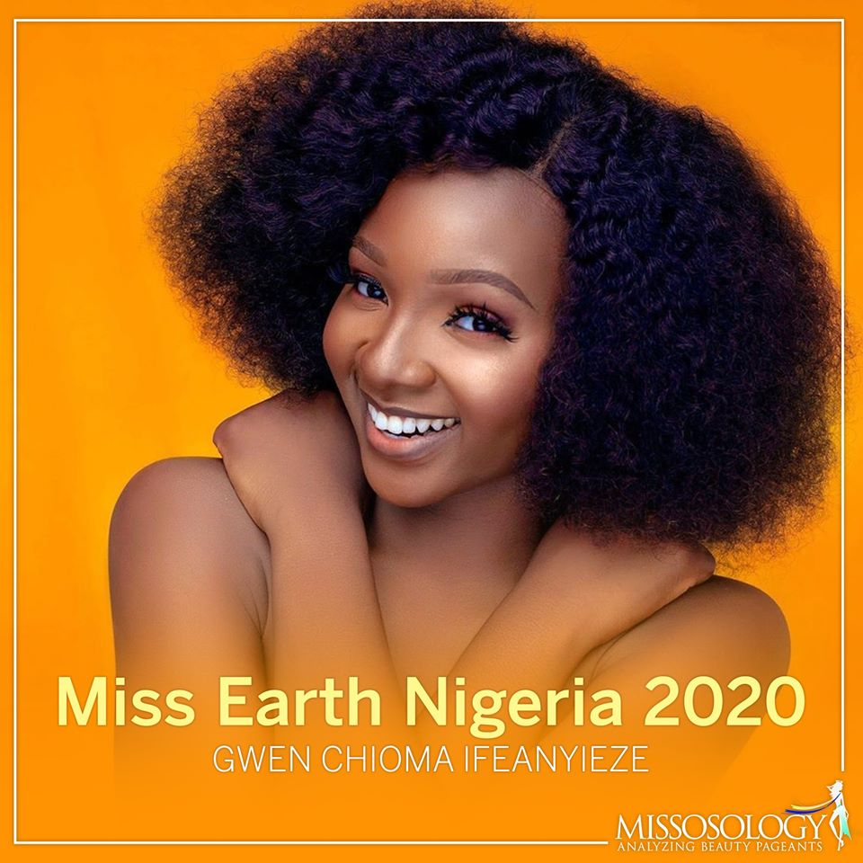 gwen chioma ifeanyieze vence miss earth nigeria 2020. UCCCA1