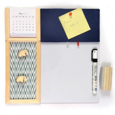 Pin board and whiteboard combination - A colored bulletin board, to-do board, messages, bills. A perfect combination for home and office.