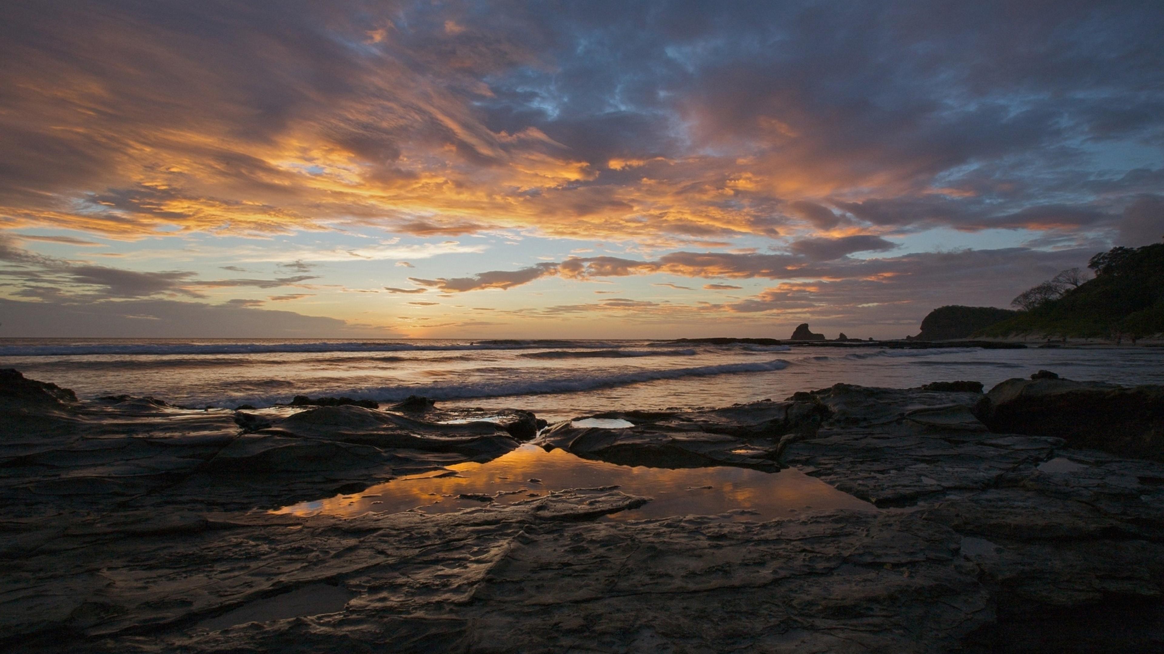 природа море берег камни облака без смс